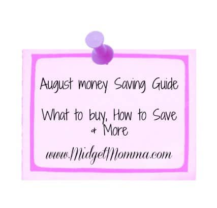august money saving guide