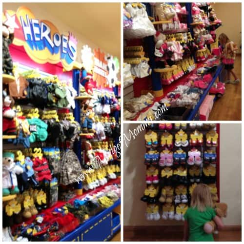 picking out build a bear clothing