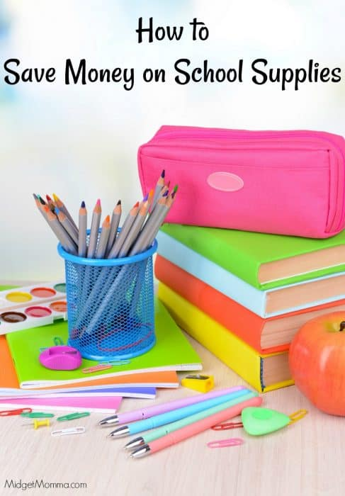 Saving money on school supplies