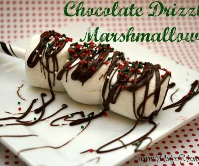 Chocolate Drizzled Marshmallows.Easy recipes for Parties & are great for kids & anyone who love chocolate and marshmallows! Can be designed for any holiday