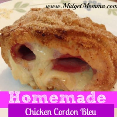 Homemade Chicken Cordon Bleu Recipe - Easy to make homemade chicken cordon bleu that tastes so much better then the processed ones you buy in the store.