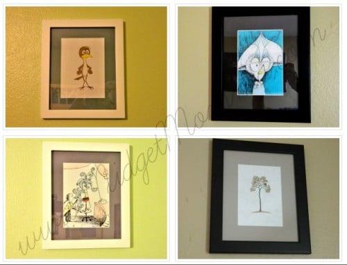 diy framed wall art