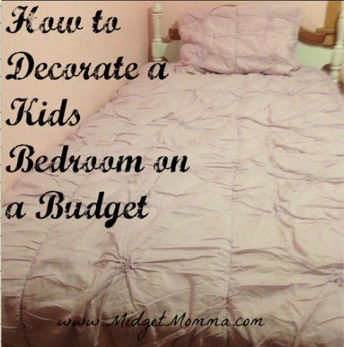 how to decorate a kids room on a budget