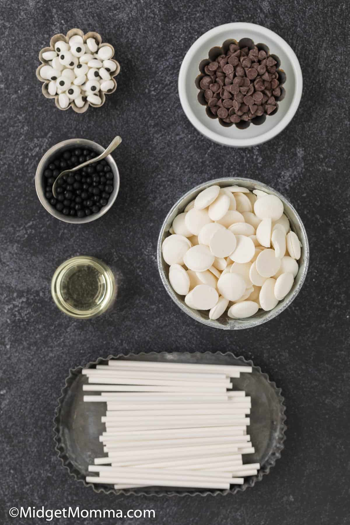 White Chocolate Ghost Pops ingredients