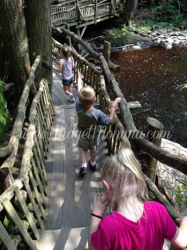 Hiking at Bushkill Falls in the Pocono Mountain Pennsylvania