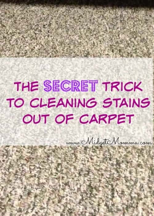 the secret to getting spots out of carpet