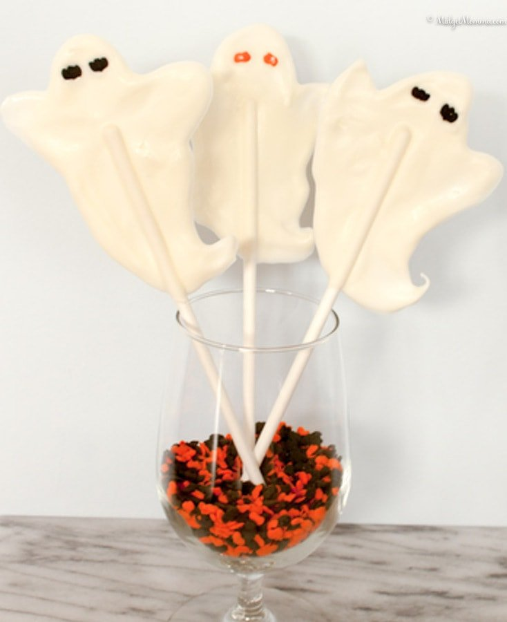 ghost chocolate lolipops
