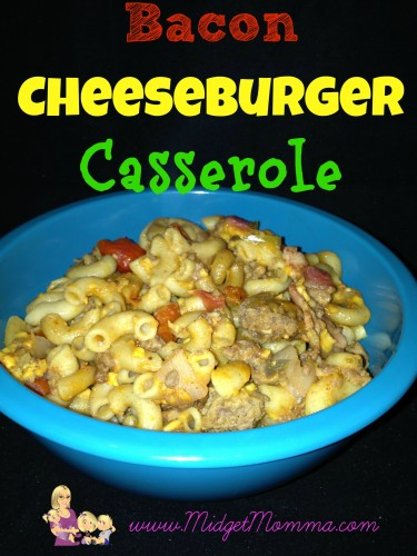 Bacon Cheeseburger casserole is like a homemade hamburger helper but without all the junk in it plus it taste so much better.