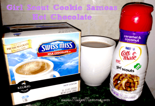 Girl Scout Cookie Samoas Hot Chocolate is able to give you that great samoas flavor you crave even in the dead of winter when its not cookie season.