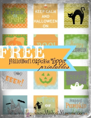 12 FREE Halloween Cupcake Toppers/ DIY Halloween Stickers Printables
