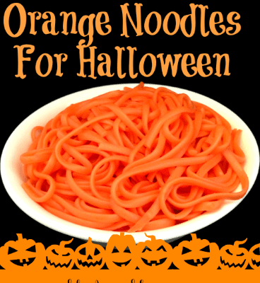 Your kids are going to love these spooky but fun Orange Noodles for Halloween. The best part of these are they are scary how simple they are to make.