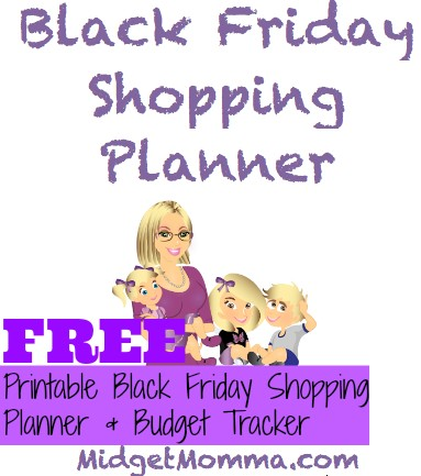 FREE Black Friday Printable Shopping Panner