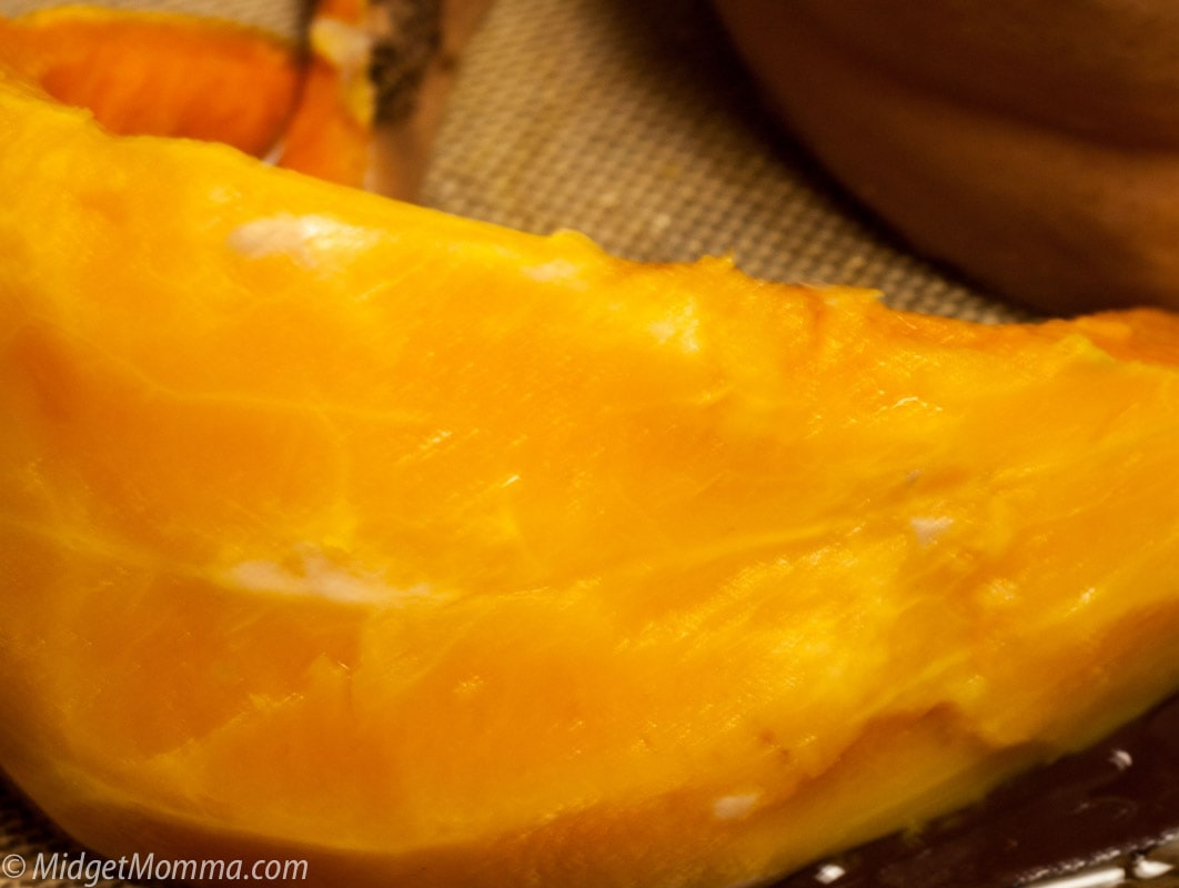 removing skin from cooked pumpkin