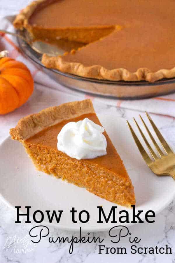 The Best Homemade Pumpkin Pie Make Pumpkin Pie From Scratch