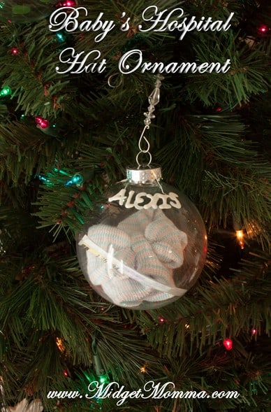 Baby's Hospital Hat Ornament