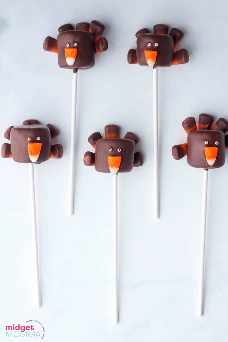 Thanksgiving Turkey Marshmallow Pops