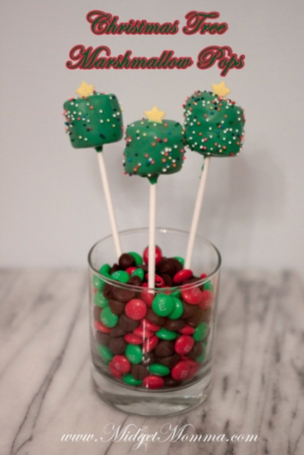 Christmas Tree Marshmallow Pops