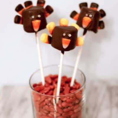 Chocolate Dipped Turkey Marshmallow Pops