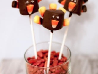 Turkey Marshmallow Pops. These Turkey Marshmallow Pops are super cute to make for Thanksgiving and easy too! The kids will love Turkey Marshmallow Pops