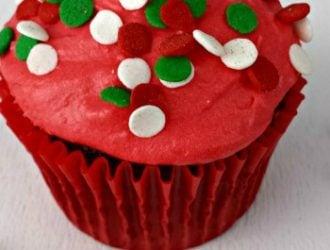 Homemade Chocolate Christmas Cupcakes