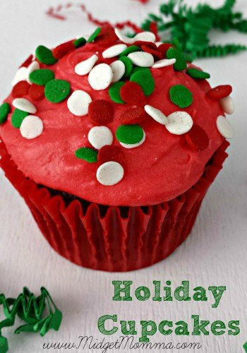 Make our delicious Homemade Chocolate Christmas Cupcakes as a great easy treat for the holiday season! These are a hit with their buttercream frosting!