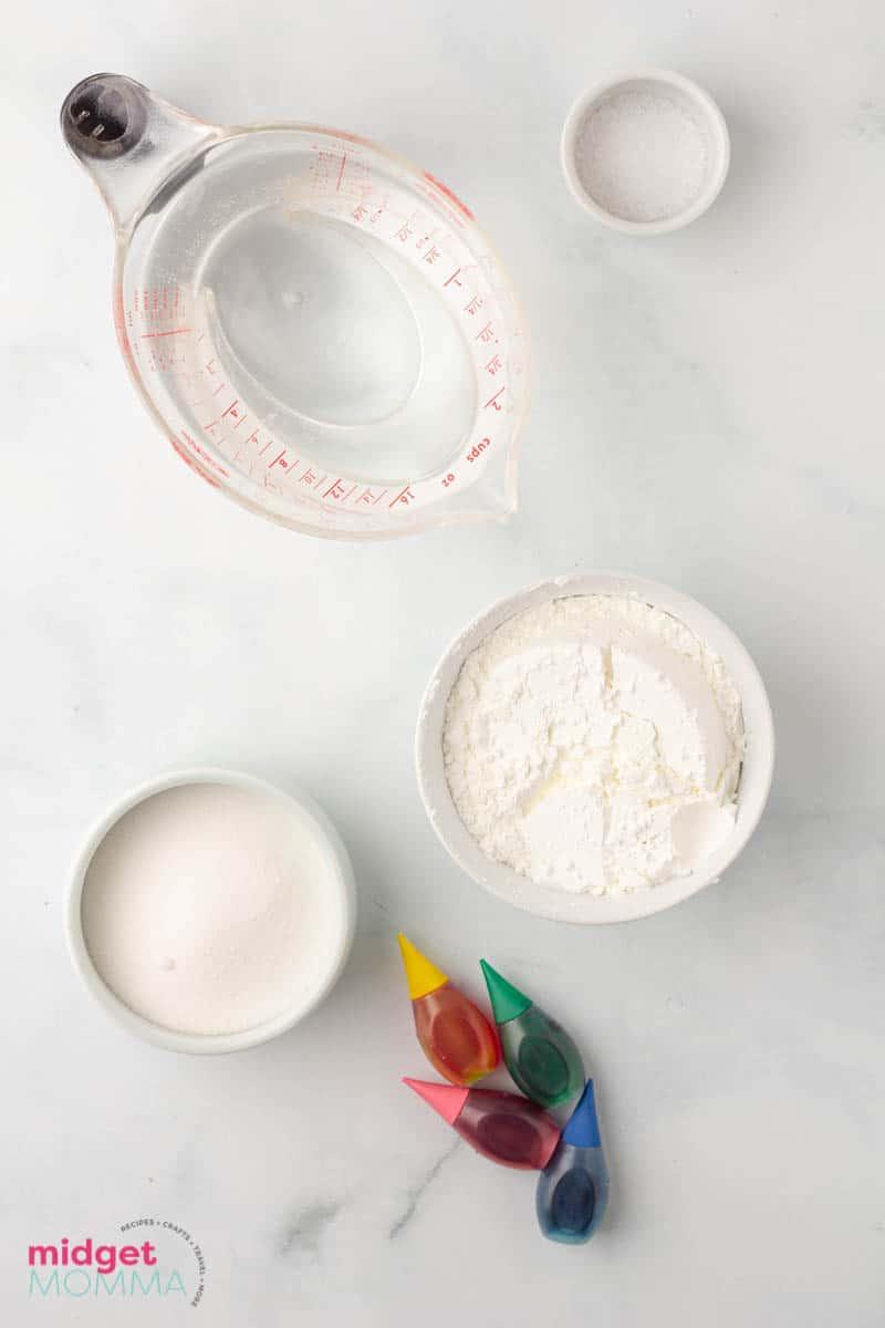 Homemade Finger Paint ingredients