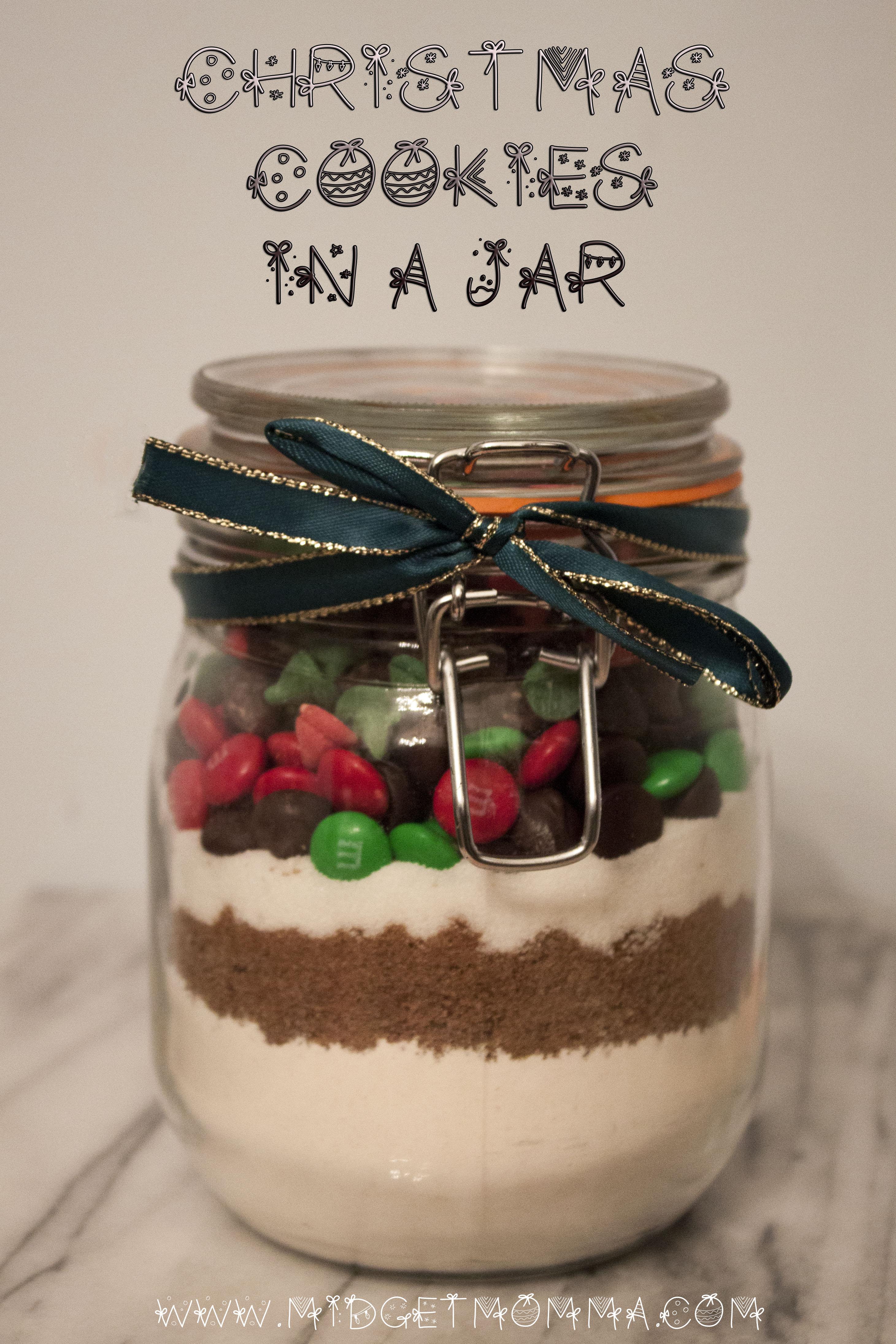 Christmas Cookies Gift In A Jar