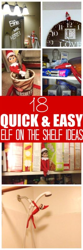 18 quick elf on the shelf ideas