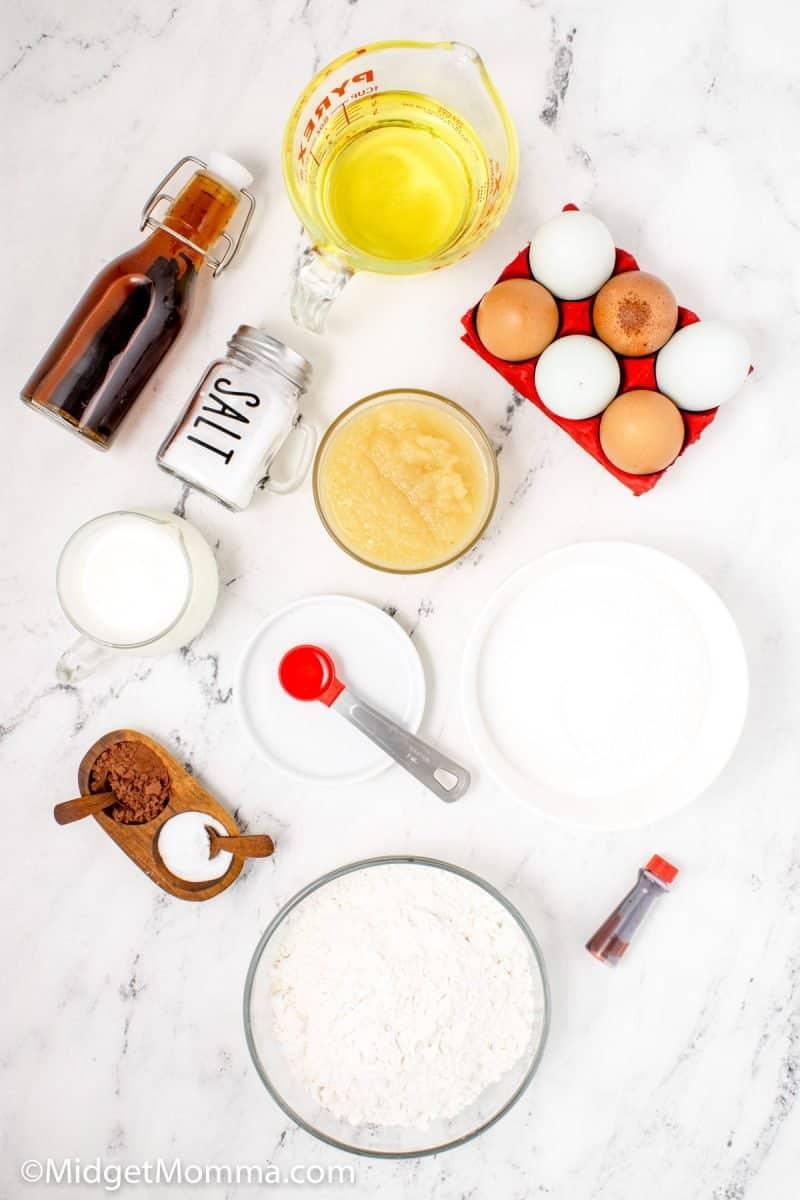 Red Velvet Cupcakes Recipe ingredients