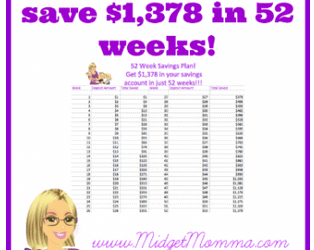 52 Week Money Challenge! Easily Save $1,378 in a Year!