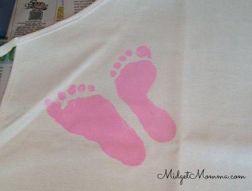 painted kids feet