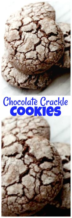 These homemade Chocolate Crackle Cookies are perfect for the chocolate lover. Also known as chocolate crinkle cookies, these cookies are perfect for anytime, not just as a Christmas cookie! #Chocoalte #ChocolateCookie #ChristmasCookie #CrinkleCookie #CrackleCookie