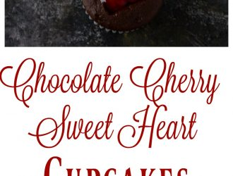 Chocolate Cherry Sweet Heart Cupcakes