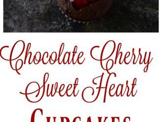 Chocolate Cherry Sweet Heart Cupcakes