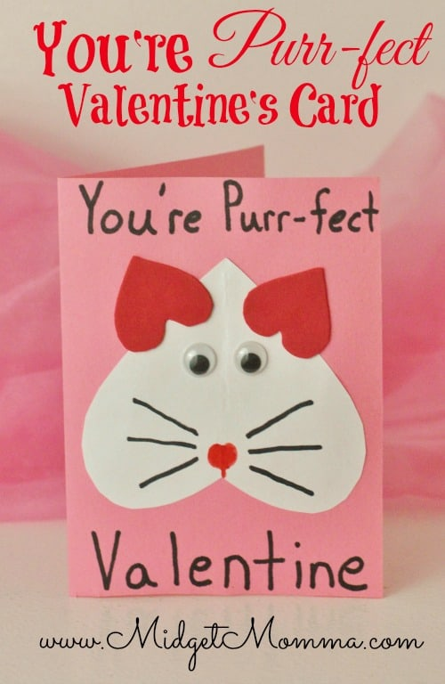 DIY You're Purr-fect Valentine's Card How To