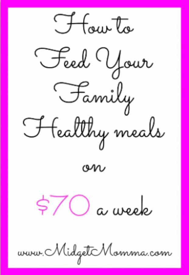 Feed family for $70 a week