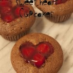 Chocolate Cherry Sweet Heart Cupcakes brings together that great flavor of chocolate and cherries. They are sure simple to make but they are so cute.