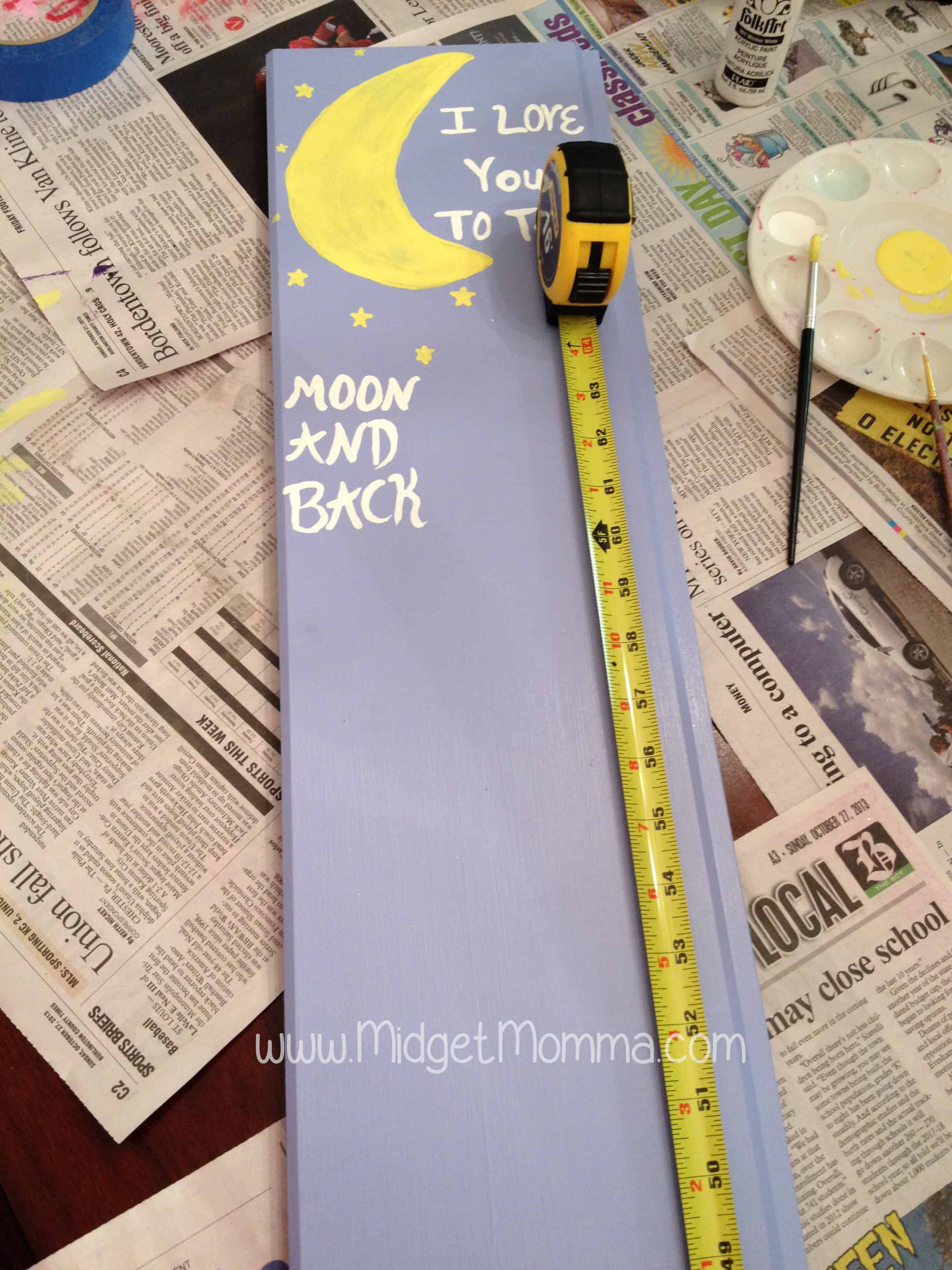 Do it yourself wooden growth chart then paint a line at each mark nvjuhfo Images