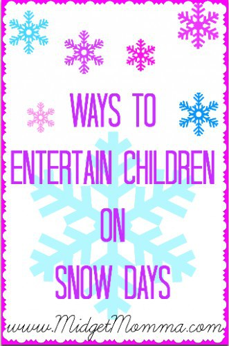 Ways to Entertain Children on Snow Days