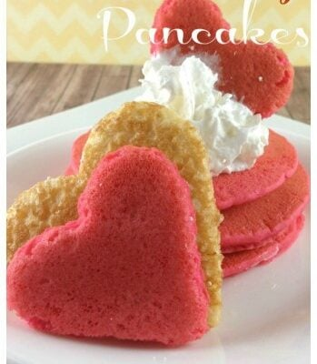 Your kids love to get these pancakes for Valentines day. This recipe turns everyday pancakes into festive Valentine's Day Pancakes.