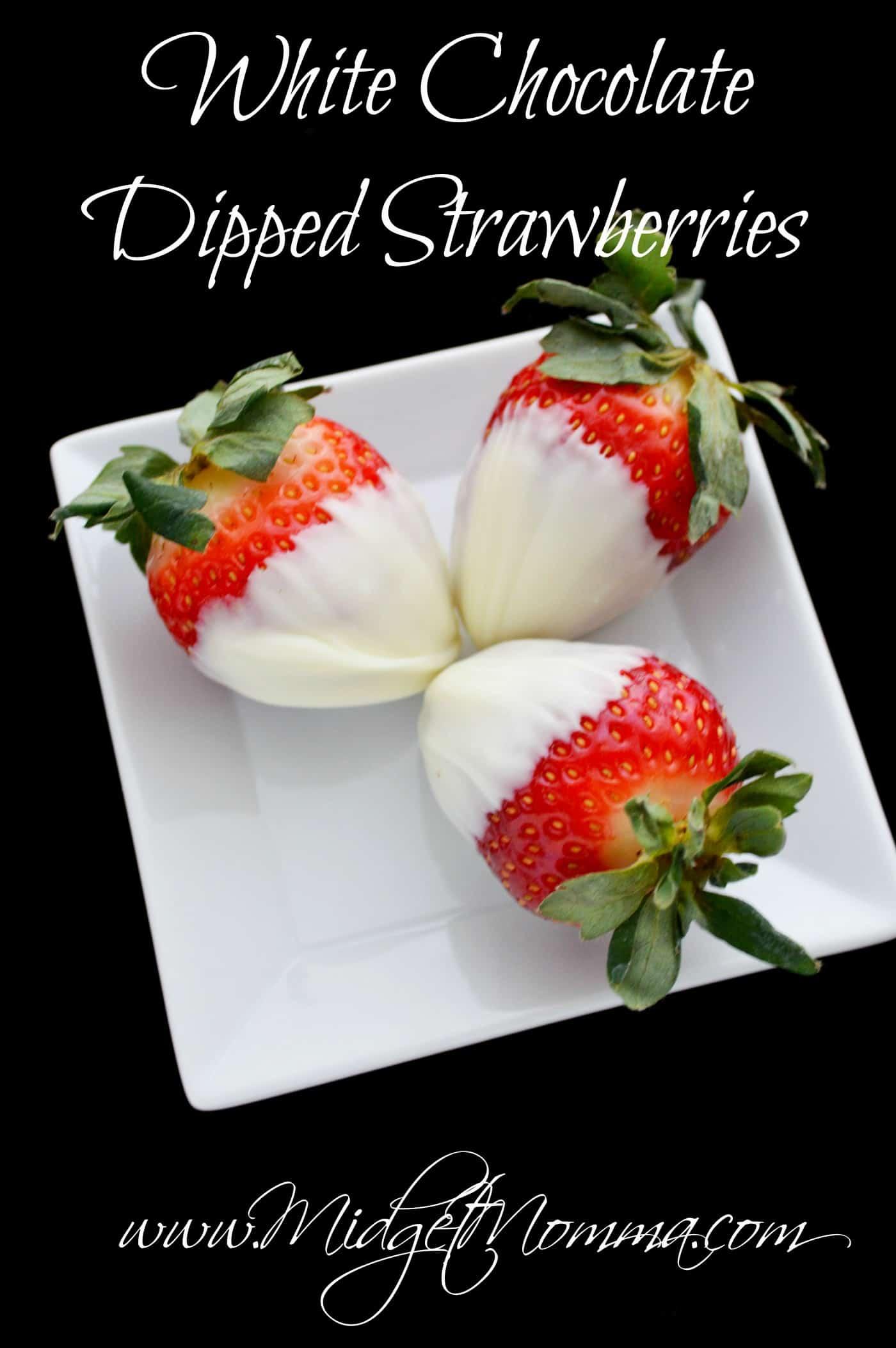 Classic White Chocolate Dipped Strawberries