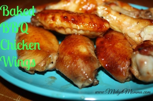 Baked BBQ Chicken Wings have that great favor without all the extra fat. They will still be a great party food that your guest will not know they are baked.