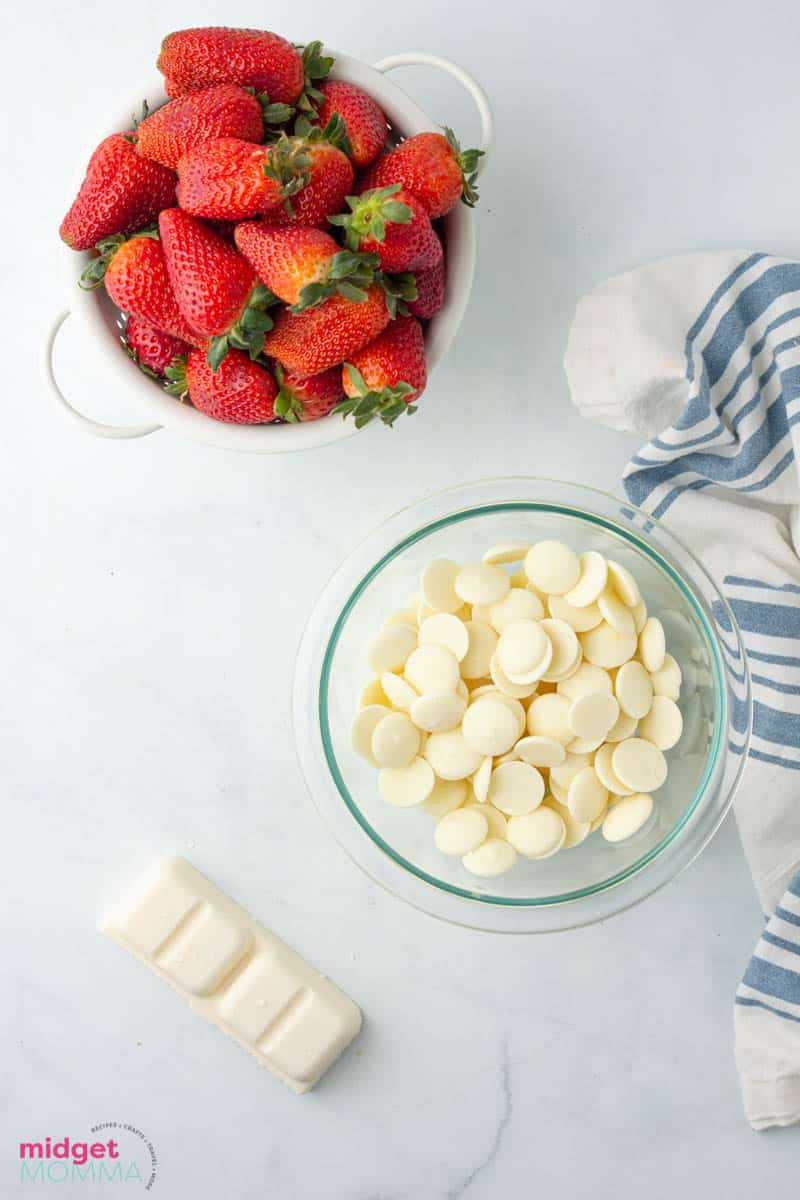White Chocolate Covered Strawberries  ingredients