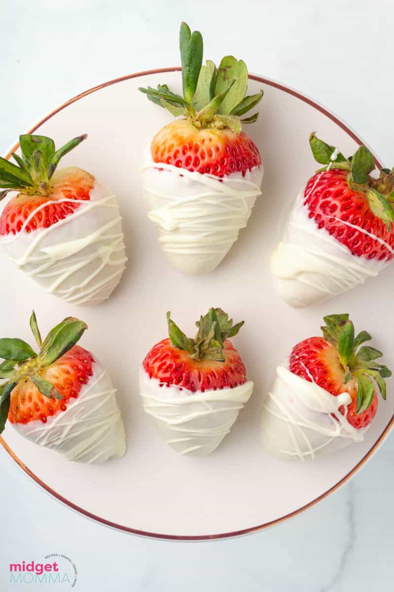 White Chocolate Covered Strawberries close up photo