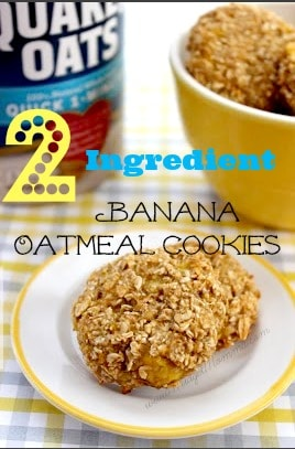These 2 Ingredient Banana Oatmeal Cookies are super easy to make. Your kids would love to get in the kitchen to help you make them and eat them.