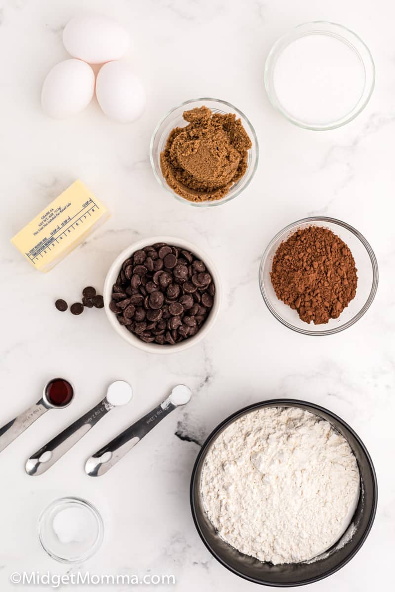 Chocolate Brownie Cookies ingredients