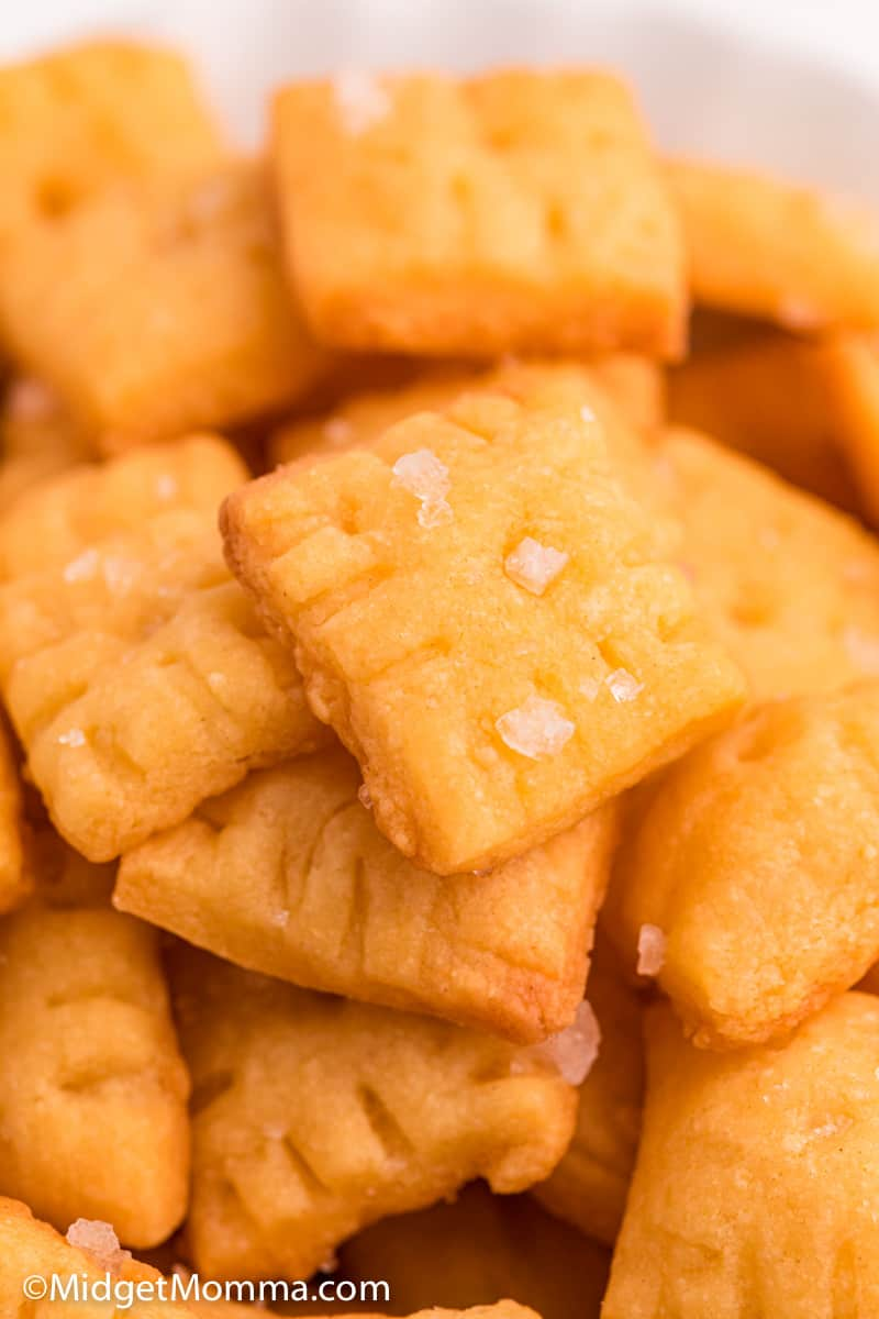 close up photo of Homemade Cheez-Its Crackers