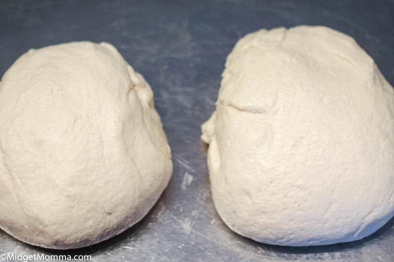 2 balls of white bread dough