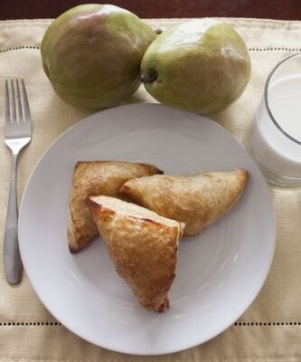 Pear Turnovers are great for breakfast, a snack or dessert! They have a great crunch from the puff pastry and a sweet filling with the pears.