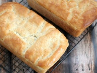 Homemade White Bread is so simple you don't even need a bread maker to make this. It turns out so fluffy that all you will need on it is some butter.